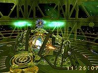 Alien Clock 3D screensaver screenshot. Click to enlarge