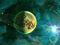 Deep Space 3D screensaver screenshot. Click to enlarge