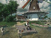 Holländische Windmühlen 3D Bildschirmschoner Screenshot. Klicken zum Vergrößern.