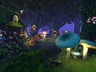 Fairy Forest 3D screensaver screenshot. Click to enlarge