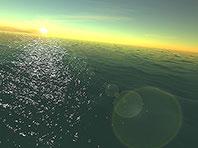 Fantastischer Ozean 3D Bildschirmschoner Screenshot. Klicken zum Vergrößern.