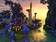 Faraway Planet 3D screensaver screenshot. Click to enlarge