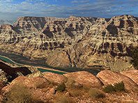 Grand Canyon 3D screensaver screenshot. Click to enlarge