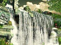 Mayan Waterfall 3D screensaver screenshot. Click to enlarge