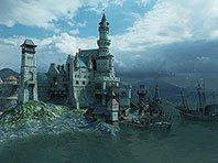 Medieval Castle 3D screensaver screenshot. Click to enlarge