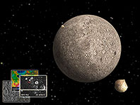 Mercury 3D Space Survey screensaver screenshot. Click to enlarge