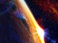 Orbital Sunset 3D screensaver screenshot. Click to enlarge