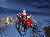 Santa Claus 3D screensaver screenshot. Click to enlarge