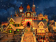 Santa's Castle 3D screensaver screenshot. Click to enlarge