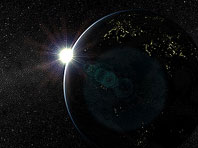 Solar System - Earth 3D screensaver screenshot. Click to enlarge