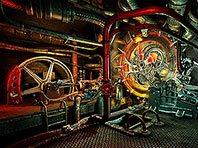 Steam Clock 3D screensaver screenshot. Click to enlarge