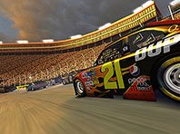 Stock Car Racing 3D screensaver screenshot. Click to enlarge
