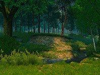 Summer Forest 3D screensaver screenshot. Click to enlarge