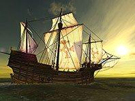 Voyage of Columbus 3D screensaver screenshot. Click to enlarge
